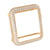 38MM Rose Gold Finish Lab Diamond Apple Watch Bezel
