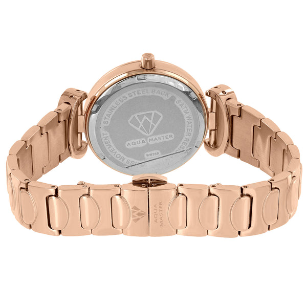 Rose Gold Tone Watch Mother Of Pearl Genuine Diamonds International Warranty