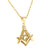Yellow Gold Finish Masonic Lab Diamond Pendant