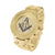 Mens 14k Yellow Gold Finish Metal Band Watch