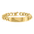 Stainless Steel Miami Cuban ID Style Bracelet Yellow Gold Finish