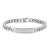 Slim Miami Cuban Link 14k White Gold Finish Lab Diamond Iced ID Bracelet