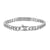 Slim Miami Cuban Link 14k White Gold Finish Lab Diamond ID Bracelet