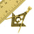 Masonic Compass Pendant Set