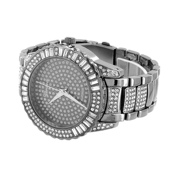 Black Lab Diamonds Watch Iced Out Stainless Steel Back
