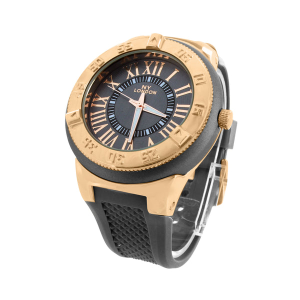 Rose Gold Finish Watch Index Markers Silicone Rubber