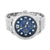 Black Dial Mens Watch White Gold Tone Stainless Steel Back NY London