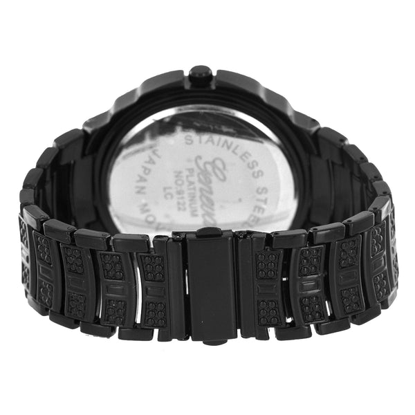 Black Geneva Platinum Watch Mens Joe Rodeo Jojo Jojino