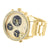 Yellow Three Time Zone Watch NY London Big Round Face