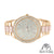 Pink Acetate Dial Womens Mk Style Lab Diamonds Rose Finish Watch