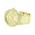 Gold Finish Mens Watch Simulated Stones Geneva
