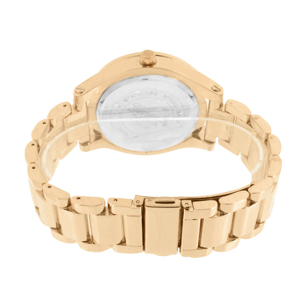 Rose Gold Tone Watch  Geneva Mens Womens Water Resist Steel Back Analog