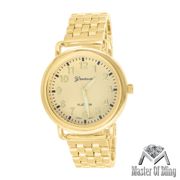 14K Gold Tone Geneva Womens MK Style Stainless Steel Back Watch