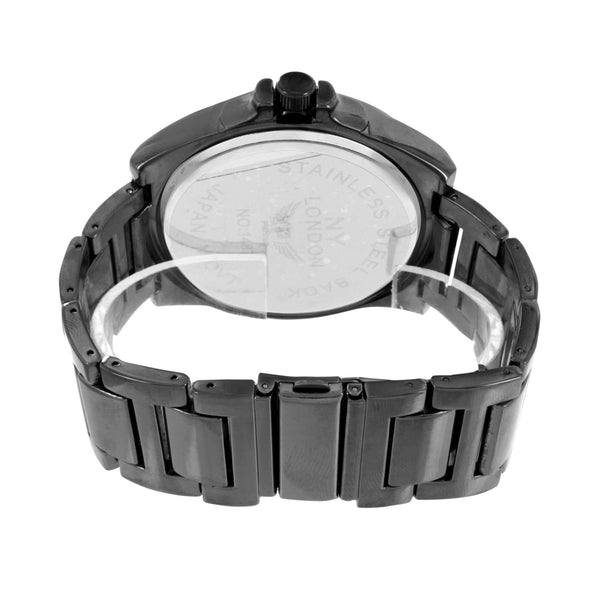 Mens Black PVD Watch Stainless Steel Case Analog