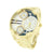 Gold Finish Watch Jumbo Face Stainless Steel Back NY London