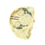 Gold Finish Watch Large Face Round Analog 3 Timezone Look 63 MM