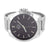 Mens Watch NY London White Gold Tone Black Dial Steel Back