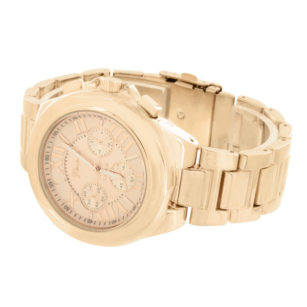 Rose Gold Tone Watch Geneva Joe Rodeo Jojo Jojino Mens Womens 45 MM Water Resist