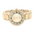 Rose Gold Finish Watch Round Analog Geneva
