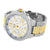 New Gold White Tone Watch Mens Roman Numeral Hour Mark Water Resist