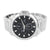 Men's White Gold Tone Watch Black Dial NY London