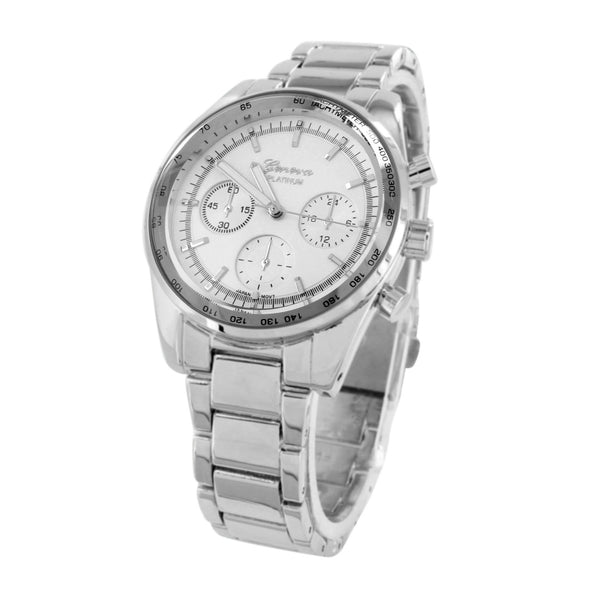 White Dial  Watch  Geneva Water Resistant Analog 40MM