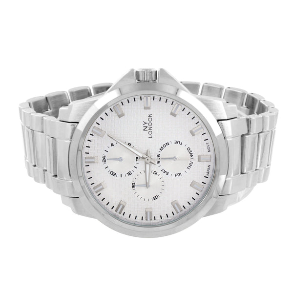Water Resistant White Gold Tone Watch Analog With White Dial
