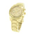 Gold Finish Geneva Watch Stainless Steel Back Water Resist