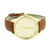 Chocolate Brown Leather Watch Designer Geneva