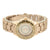 Ladies Geneva Watch Rose Gold Tone Water Resistant Analog Round Face Slim Design