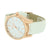 Rose Gold Finish Watch White Leather Band