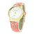Ladies Geneva Platinum Watch Pink Floral Leather Band