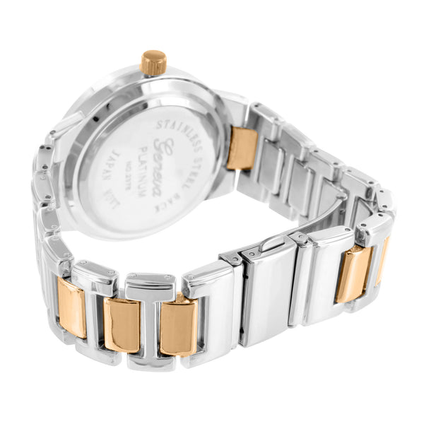 Rose & White Gold Finish Ladies Presidential Watch
