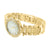 Yellow Gold Finish Metal Band Watch Roman Numeral Dial
