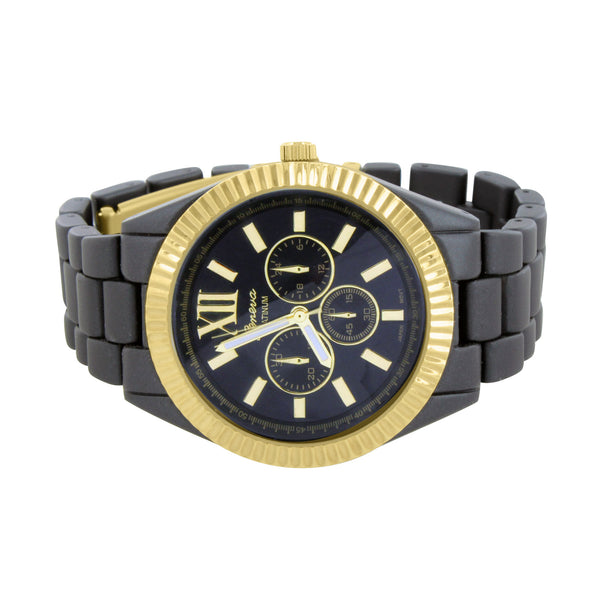 Gold Black Womens Watch Water Resistant Geneva  Analog Sale