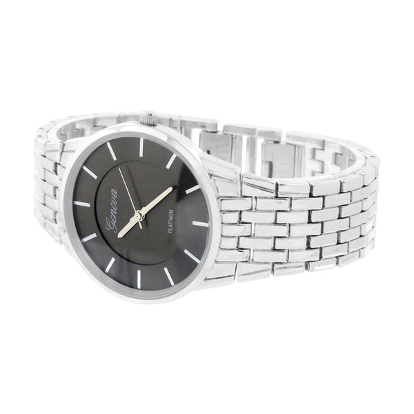Geneva Platinum Watch Black Dial