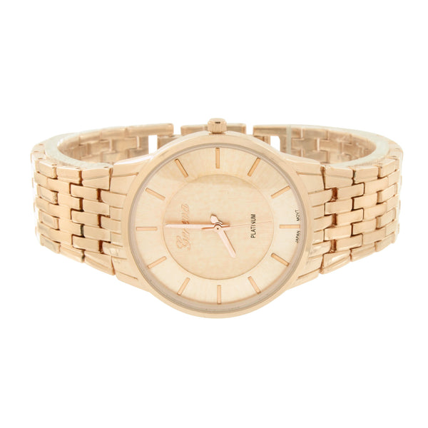 Rose Gold Finish Watch Analog Geneva