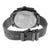 Black Round Face Watch Mesh Band NY London