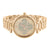 Rose Gold Tone Watch Lab Diamond Face Stainless Steel