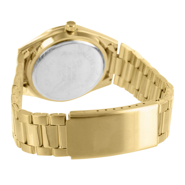 Turquoise Dial Womens Watch 14k Gold Tone Water Resist