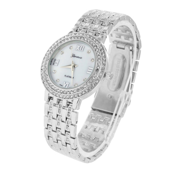 Watch White Gold Finish Simulated Lab Diamonds Iced Out Elegant