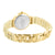 Watch Pearl Design Band Stainless Steel Back Gold Tone Lab Diamond