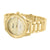 Womens Yellow Geneva Watch Parker Gold Tone Platinum Plain