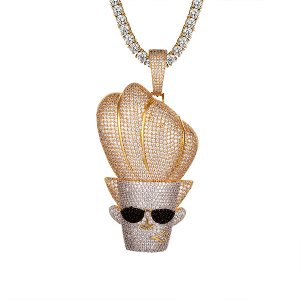 Cartoon Character Face Shades Designer Hip Hop Icy Pendant