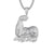 Flexing Muscle Emoji Grind Hard Rapper Bling Pendant Necklace