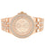 Men's Rose Gold Tone Micro Pave  Custom Metal Watch