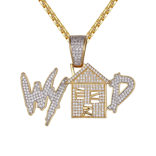 Mens What Your Trap Doing Hip Hop Silver Custom Pendant