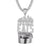 Silver Everybody Eats Money Bills Hip Hop Mens Pendant Necklace