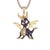 Mens Baby Dragon Animal Hip Hop 14k Gold Tone Pendant Chain