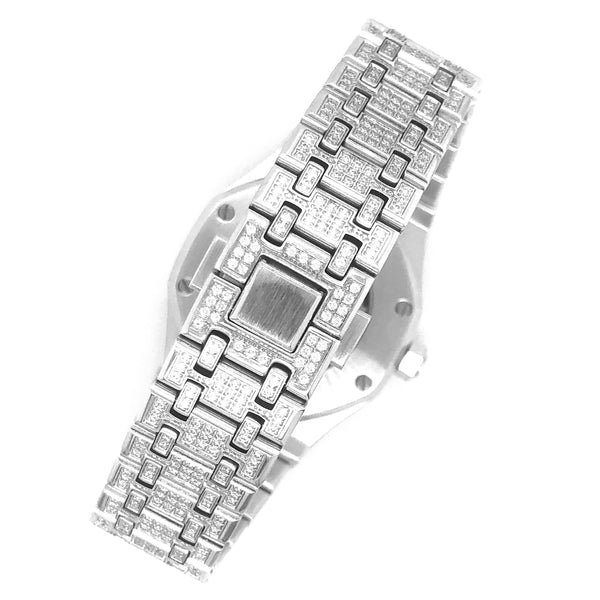 Luxury Micro Pave Arabic Dial Stainless Steel 41MM Watch